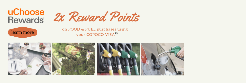 uChoose Rewards 2x Food & Fuel