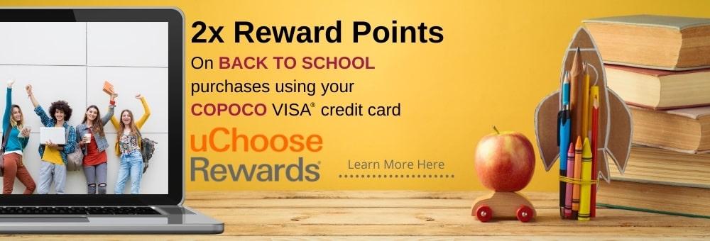 2x uChoose Rewards Back to School Shopping