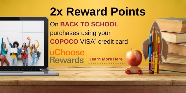 2x uChoose Rewards Back to School Shopping