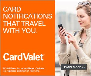Card Valet Travel Notification