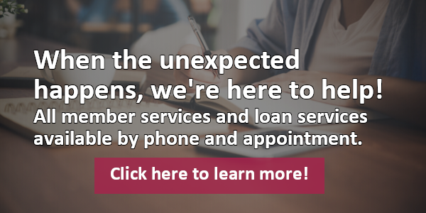 Loan/Member Services still available by phone/appointment